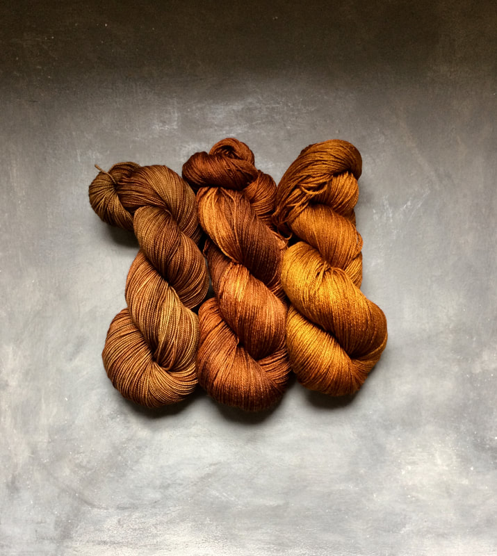 DL Rigter hand dyed yarns