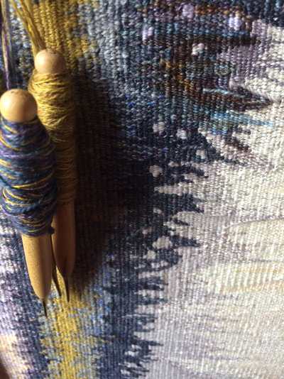 Tapestry weaving detail